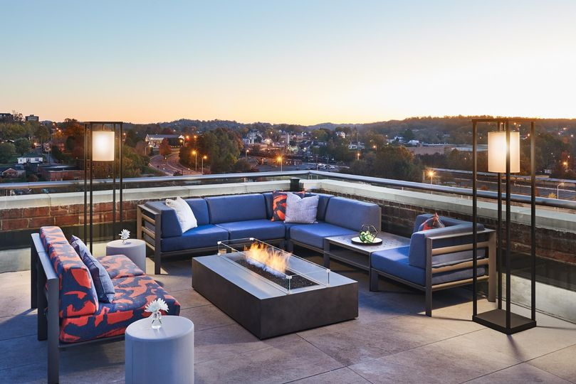 LUMAC Rooftop firepit