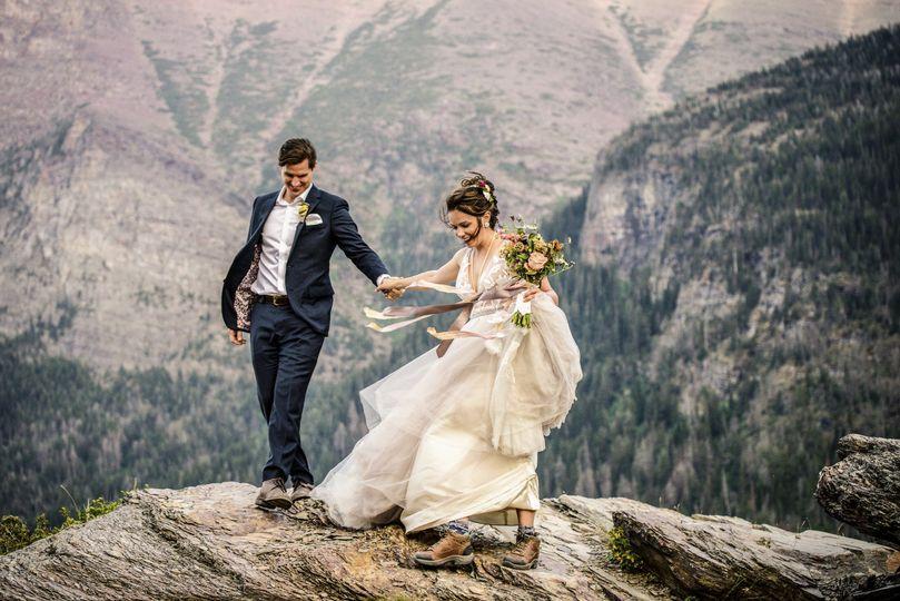 Adventure wedding glacier park
