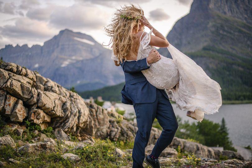 Mountain top wedding elope