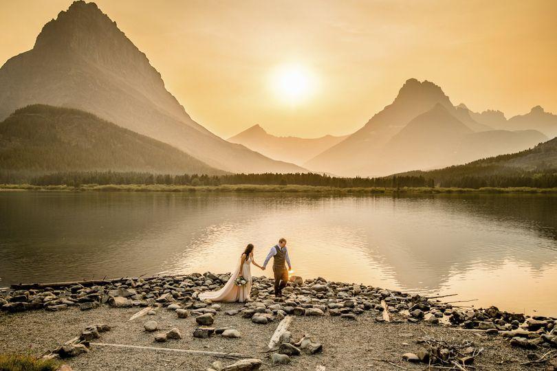 Many glacier wedding