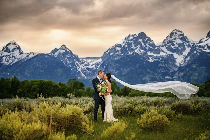 Grand teton elopement wedding