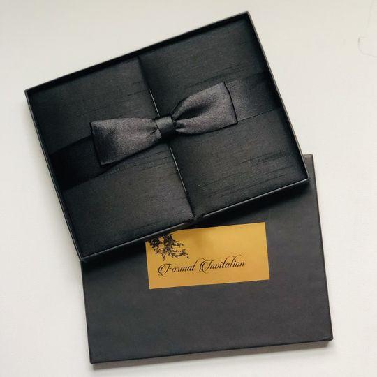 Black Dupioni Silk Folio