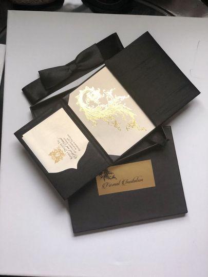 Silk Folio and Gold Foil