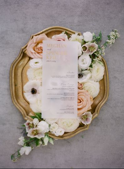 Vellum with Gold Foil