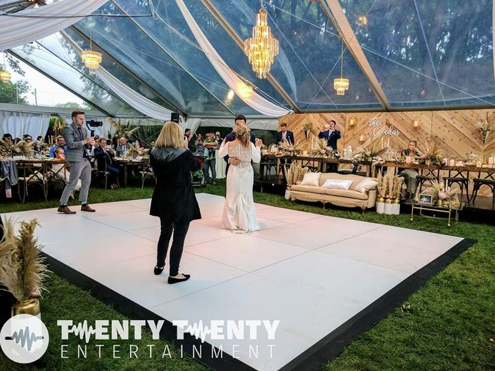 White Dance floor and Tent