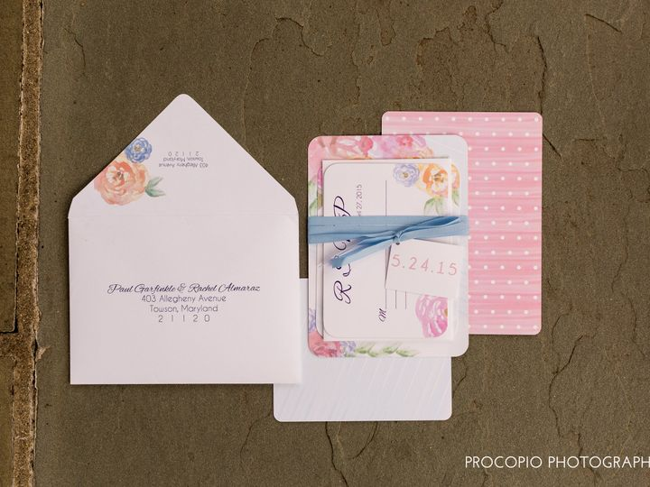 Tmx 1446158280734 052415 Procopio Photography Almaraz Wedding Do Not Parkton, MD wedding invitation