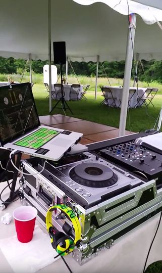 DJ console outdoors