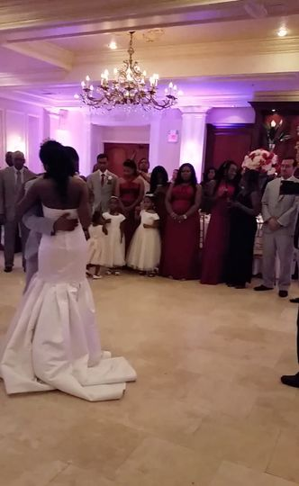 Couple dancing on the dance floor