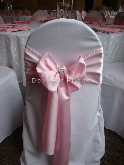 Baby pink chair bows