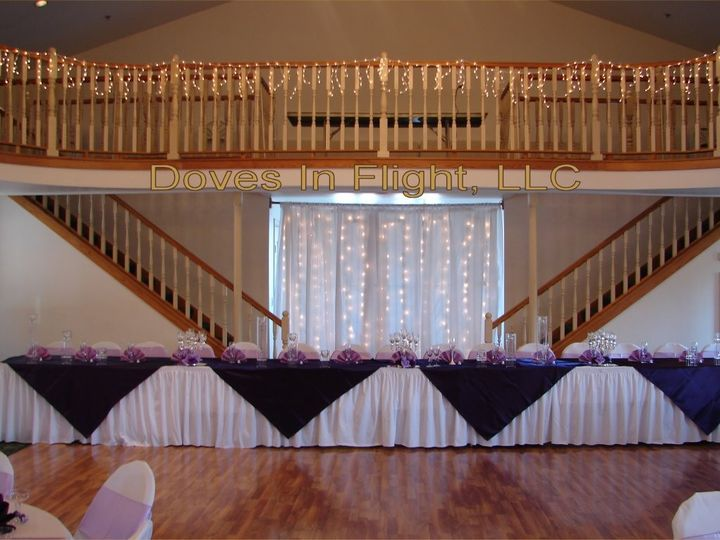 Tmx 1389842659880 Purple Satin Head Table Overlay Dimondale, Michigan wedding rental