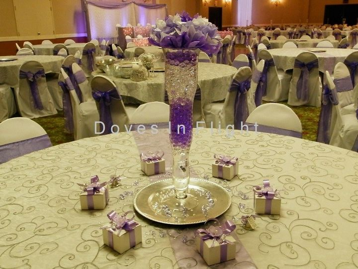 Tmx 1389842994138 Emroidered Overlay With Silver Charger Plat Dimondale, Michigan wedding rental