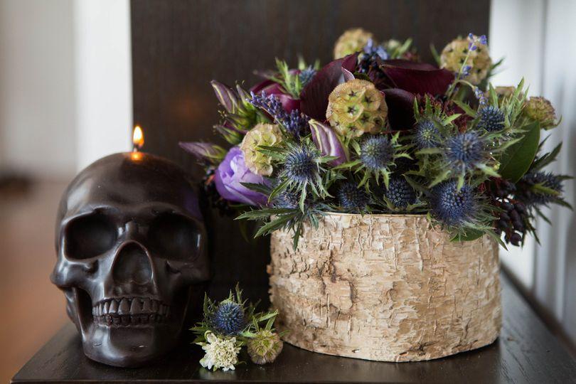 deep dark florals