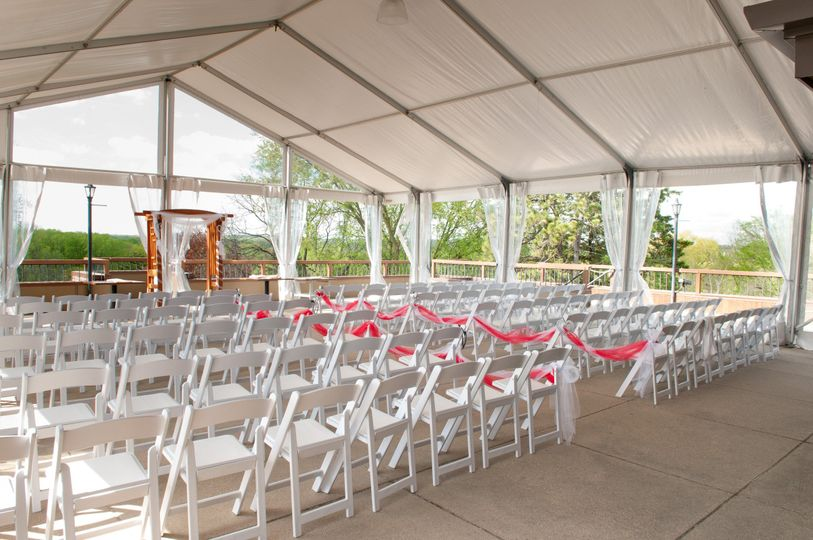 Decorated wedding ceremony space