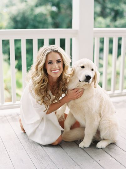 With dog