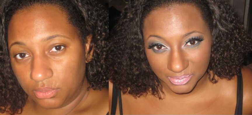 Before and after girls night out