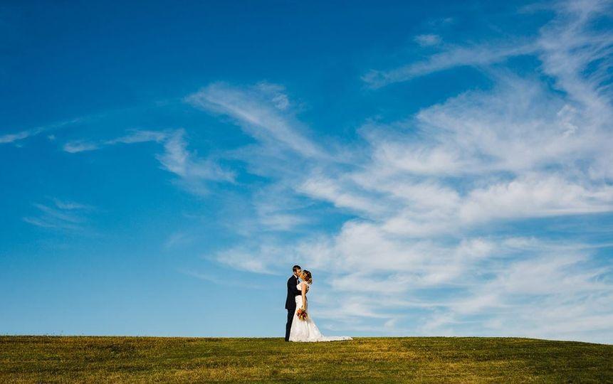 Blue sky backdrop