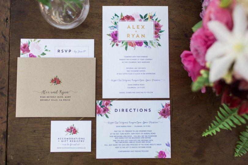 474405navy and pink modern garden wedding