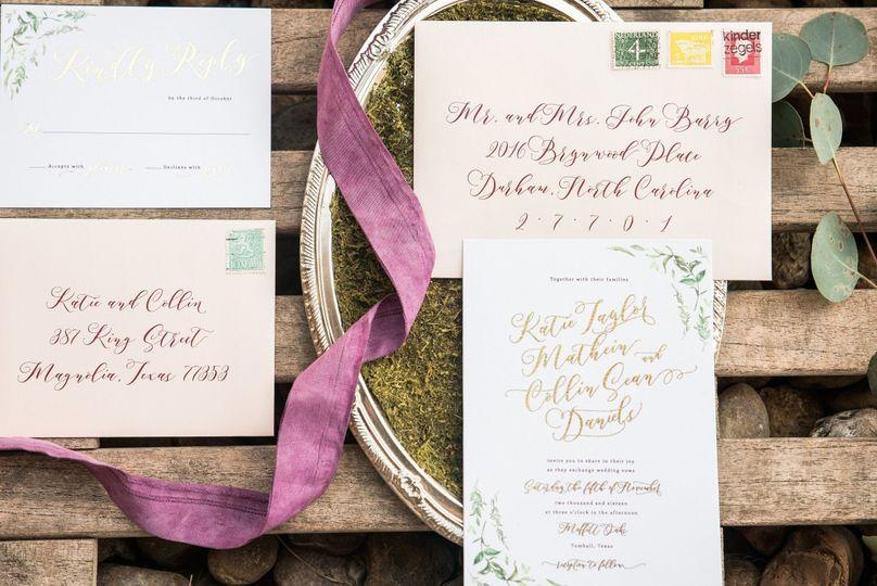 Leafy invitations