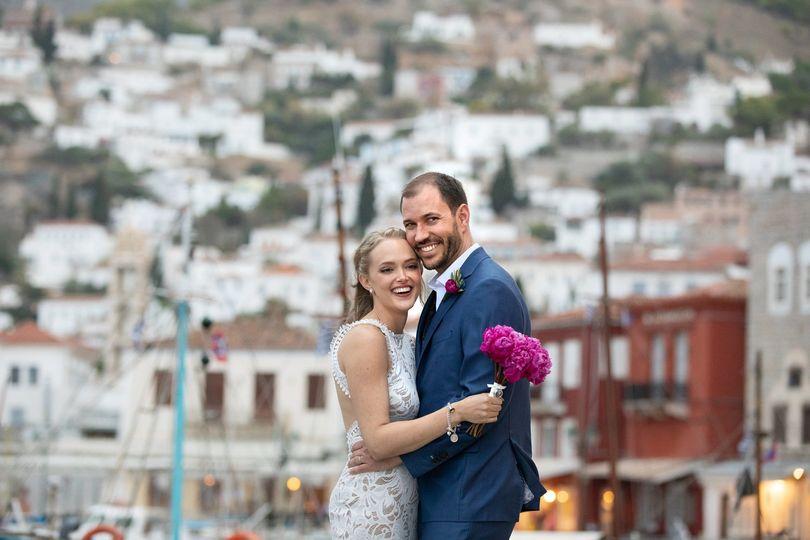 Newlyweds in Hydra