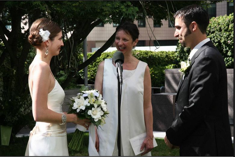 Laughter is a welcome element at a formal wedding. The ceremony and reception were held at a...