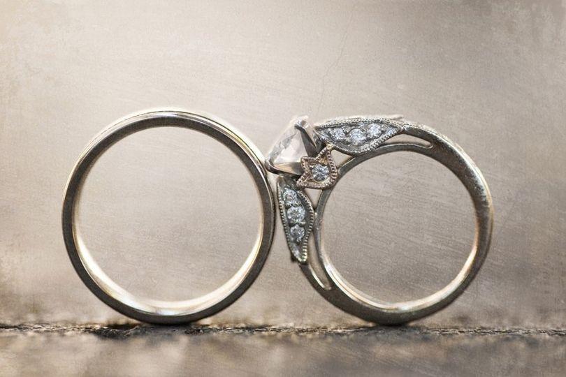 engagement ring wedding bands artistic wedding pho