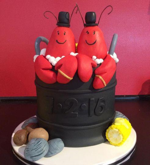 Lobster Pot Wedding cake