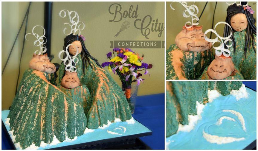 lava cake collage