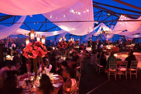 Tented Reception in Malibu