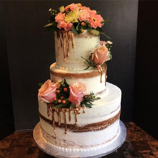 tiered naked cake gold drips 51 165384 1567440993