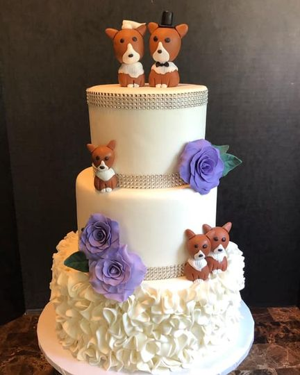 Corgi family wedding