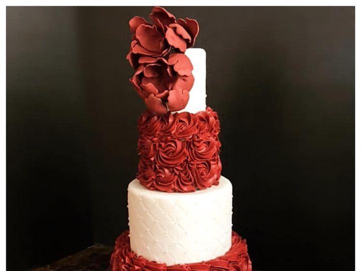 Tmx Maroon Rossette Wedding Cake 51 165384 1567441027 North Bergen, NJ wedding cake