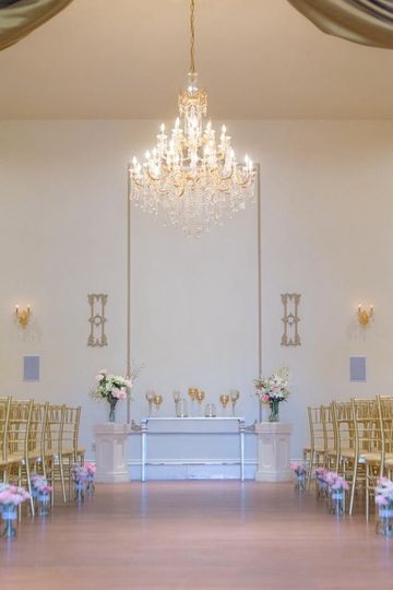 Wedding aisle and altar