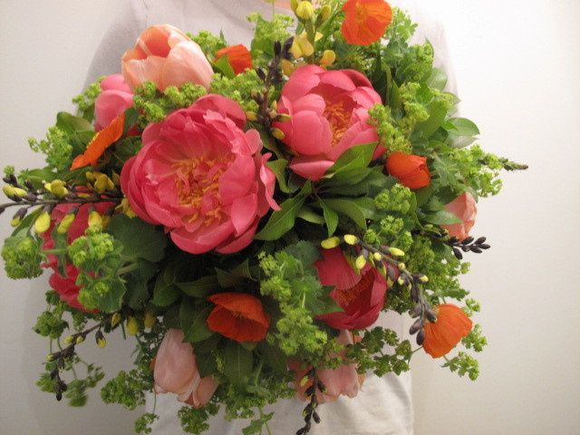 Tmx 1402985993567 Coral Peony Bouquet Southport wedding florist