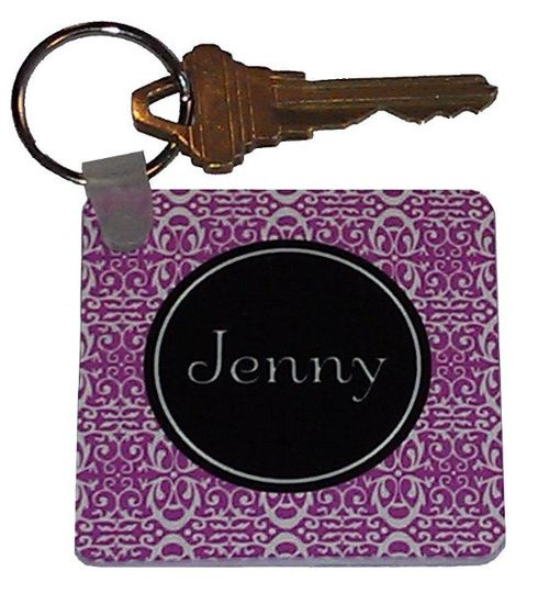 Personalized key chain available in many different designs and colors