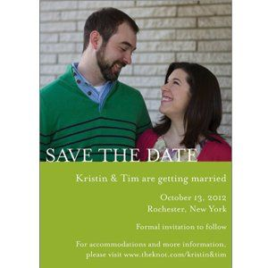 We do photo save the date announcements - several different design and color options.