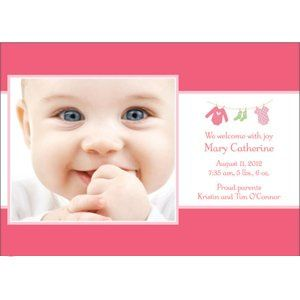We do photo birth announcements - several different design and color options