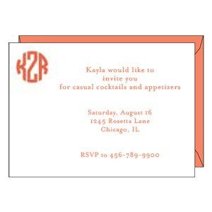 Any of our flat notecard designs can be personalized as invitations!