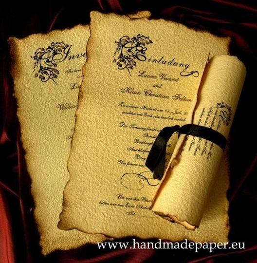 parchment old english invitatio