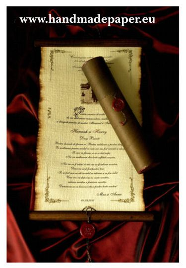 parchment scroll thankyouguest invite