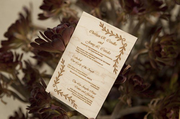 Garland is the title of this simple invitation