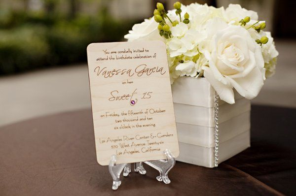 Smooth invitation for sweet 15/16 or any special occasion