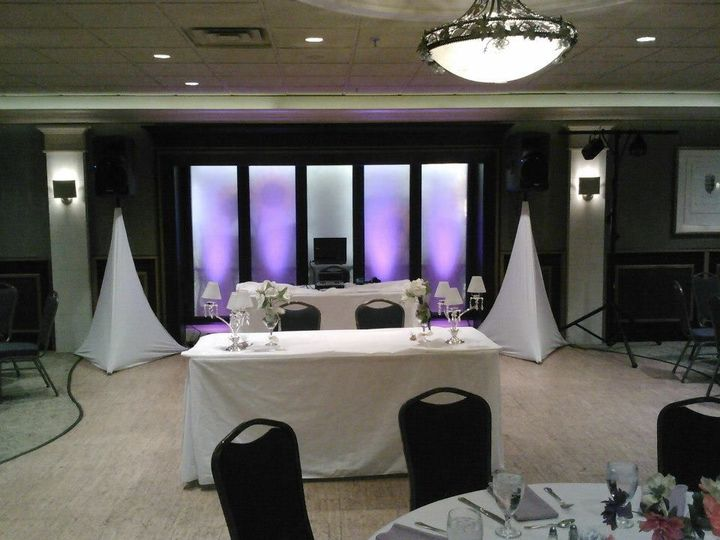 DJ booth and reception set-up