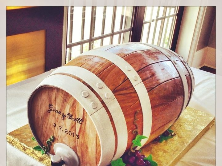 Tmx 1445379487452 Winebarrelwithwine Atlantic Highlands wedding cake