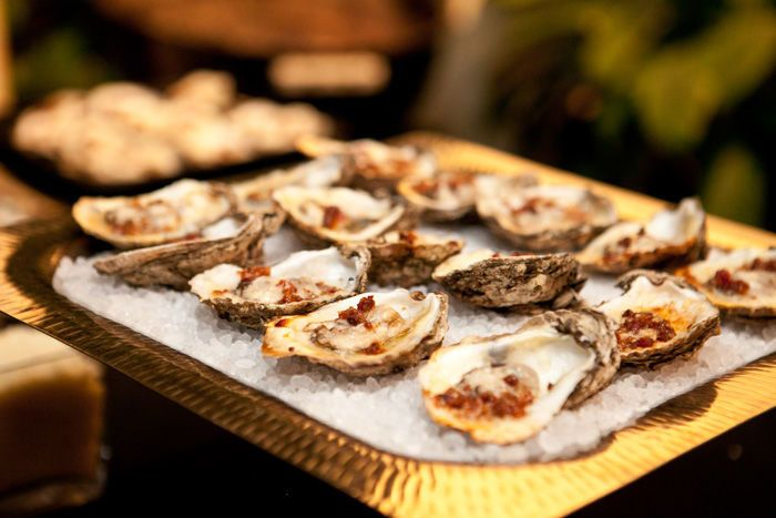 Charbroiled Oysters with Bacon and Parmesean