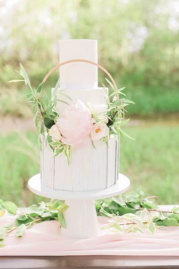 Fresh floral hoop