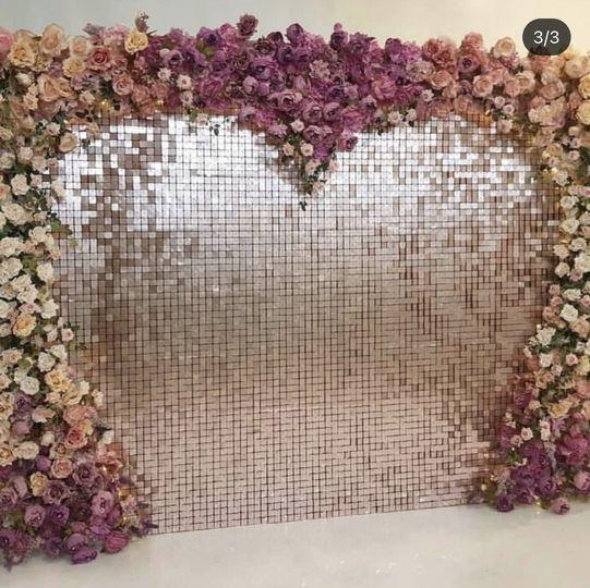 Matte pink shimmer wall