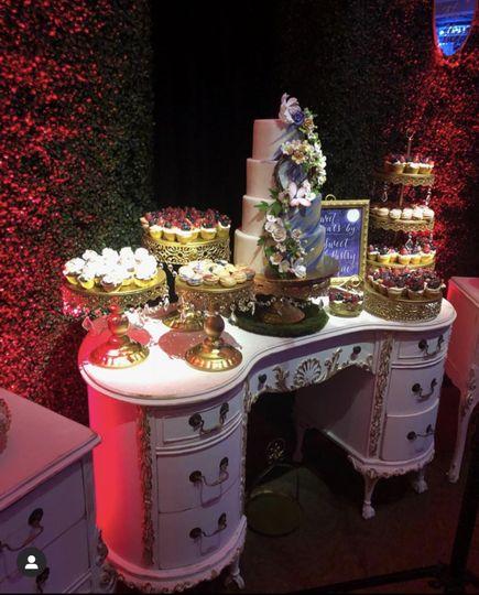 Queen Ann dessert table