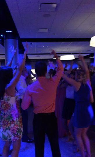 Guests are dancing