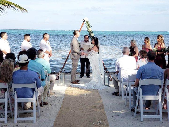 Beach wedding at La Perla