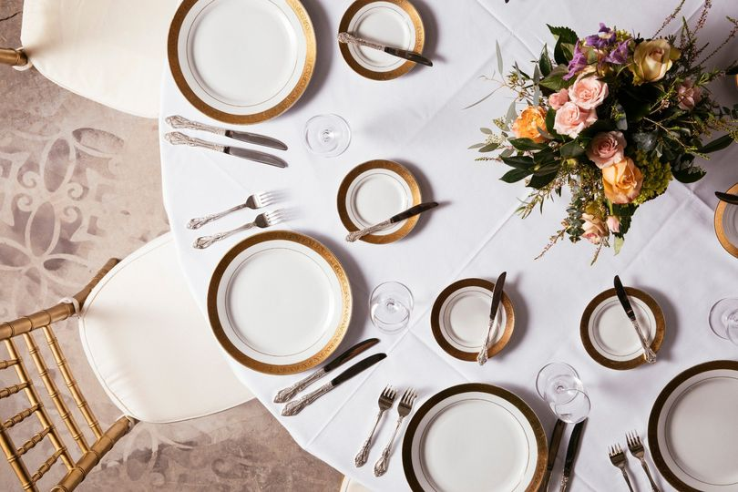 Seated Dinner Table Setting